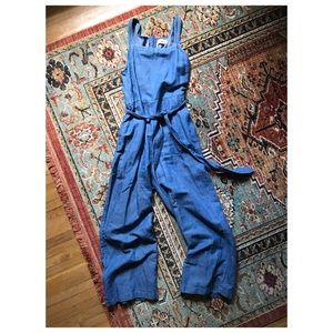 Madewell Chambray Muralist Jumpsuit Sz 4